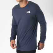 /achat-t-shirts-manches-longues/the-north-face-tee-shirt-manches-longues-simple-dome-bleu-marine-blanc-151808.html