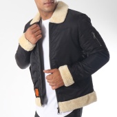 /achat-bombers/bombers-original-bomber-col-mouton-hutch-noir-151983.html