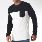 /achat-t-shirts-manches-longues/celio-tee-shirt-manches-longues-poche-mebloque-noir-blanc-152031.html