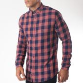 /achat-chemises-manches-longues/celio-chemise-manches-longues-mabigvic-bordeaux-bleu-marine-152037.html