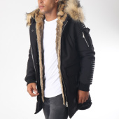 /achat-parkas/hechbone-parka-fourrure-poche-bomber-best-luxe-noir-beige-151873.html