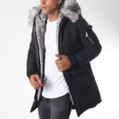 /achat-parkas/hechbone-parka-fourrure-poche-bomber-best-luxe-noir-gris-152002.html