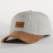 /achat-casquettes-de-baseball/reell-jeans-casquette-curved-suede-gris-chine-marron-151897.html