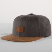 /achat-snapbacks/reell-jeans-casquette-snapback-suede-grisd-anthracite-marron-151914.html