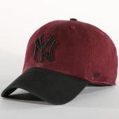 /achat-casquettes-de-baseball/47-brand-casquette-clean-up-new-york-yankees-rgwtt17gwsnl-noir-bordeaux-152251.html