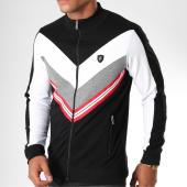/achat-vestes/classic-series-veste-zippee-bandes-brodees-8555-noir-blanc-rouge-152189.html