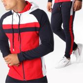 /achat-ensembles-survetement/classic-series-ensemble-de-survetement-avec-bandes-2215-rouge-bleu-marine-blanc-152212.html