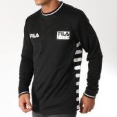 /achat-t-shirts-manches-longues/fila-tee-shirt-manches-longues-vice-682390-noir-blanc-152118.html