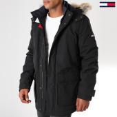 /achat-parkas/tommy-hilfiger-jeans-parka-fourrure-technical-5016-noir-152052.html