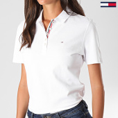 /achat-polos-manches-courtes/tommy-hilfiger-jeans-polo-manches-courtes-femme-original-basic-4434-blanc-152113.html