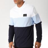 /achat-polos-manches-longues/calvin-klein-polo-manches-longues-9564-bleu-marine-blanc-bleu-clair-152445.html