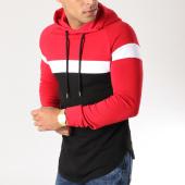 /achat-sweats-capuche/lbo-sweat-capuche-oversize-tricolore-502-noir-blanc-rouge-152543.html