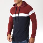 /achat-sweats-capuche/lbo-sweat-capuche-oversize-tricolore-503-bleu-marine-blanc-bordeaux-152544.html