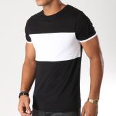 /achat-t-shirts/lbo-tee-shirt-bicolore-494-noir-blanc-152546.html