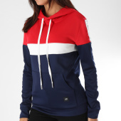 /achat-sweats-capuche/sixth-june-sweat-capuche-femme-bandes-brodees-w3585csw-bleu-marine-blanc-rouge-152434.html