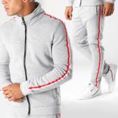 /achat-ensembles-survetement/aarhon-ensemble-de-survetement-bandes-brodees-aj182-gris-chine-blanc-rouge-152682.html