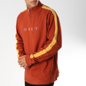 /achat-t-shirts-manches-longues/obey-tee-shirt-manches-longues-avec-bandes-pearl-classic-orange-jaune-152559.html