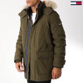/achat-parkas/tommy-hilfiger-jeans-parka-fourrure-technical-5016-vert-kaki-152709.html