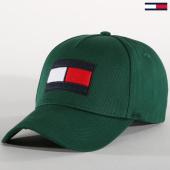 /achat-casquettes-de-baseball/tommy-hilfiger-jeans-casquette-flag-3995-vert-152748.html