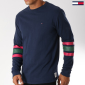 /achat-t-shirts-manches-longues/tommy-hilfiger-jeans-tee-shirt-manches-longues-college-5090-bleu-marine-vert-rouge-152792.html