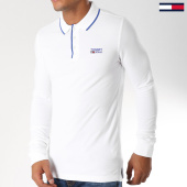 /achat-polos-manches-longues/tommy-hilfiger-jeans-polo-manches-longues-stretch-5193-blanc-152817.html