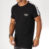 /achat-t-shirts-longs-oversize/gianni-kavanagh-tee-shirt-oversize-avec-bandes-gk-ribbon-noir-blanc-153079.html