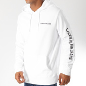 /achat-sweats-capuche/calvin-klein-sweat-capuche-institutional-chest-logo-9795-blanc-noir-153286.html