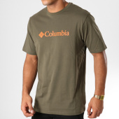 /achat-t-shirts/columbia-tee-shirt-basic-logo-vert-kaki-orange-153288.html