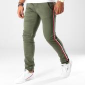 /achat-chinos/paname-brothers-pantalon-chino-bandes-brodees-lawson-vert-kaki-153176.html