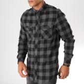 /achat-chemises-manches-longues/tokyo-laundry-chemise-manches-longues-a-carreaux-peres-gris-anthracite-153218.html