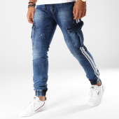 /achat-jogger-pants/aarhon-jogger-pant-bandes-brodees-a114-bleu-denim-blanc-153480.html