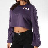 /achat-sweats-col-rond-crewneck/fila-sweat-crewneck-crop-femme-avec-bandes-aurora-684253-violet-153523.html