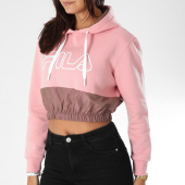 /achat-sweats-capuche/fila-sweat-capuche-crop-femme-dora-684262-rose-153527.html