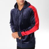/achat-sweats-zippes-capuche/fila-sweat-zippe-capuche-velours-avec-bandes-king-684430-bleu-marine-153554.html
