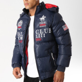 Geographical Norway - Doudoune Patchs Brodés Avalanche Bleu Marine a79c34bb09db