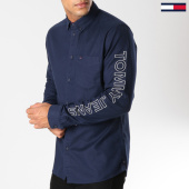 /achat-chemises-manches-longues/tommy-hilfiger-jeans-chemise-manches-longues-solid-brushed-4997-bleu-marine-153628.html