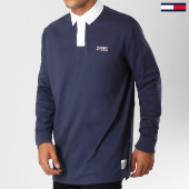/achat-polos-manches-longues/tommy-hilfiger-jeans-polo-manches-longues-oversize-essential-rugby-5154-bleu-marine-153633.html