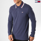 /achat-polos-manches-longues/tommy-hilfiger-jeans-polo-manches-longues-classics-5393-bleu-marine-153636.html
