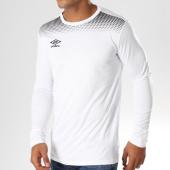 /achat-t-shirts-manches-longues/umbro-tee-shirt-de-sport-manches-longues-print-jersey-647690-60-blanc-153646.html
