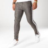 /achat-pantalons-carreaux/ikao-pantalon-avec-bandes-p18035-vert-kaki-blanc-153657.html