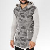 /achat-cardigans-gilets/ikao-gilet-zippe-capuche-f3479-ecru-noir-camouflage-153746.html