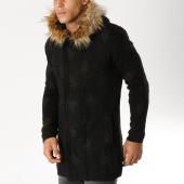 /achat-cardigans-gilets/ikao-gilet-zippe-capuche-fourrure-f3512-noir-vert-kaki-153754.html