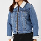 /achat-vestes-jean/only-veste-jean-col-mouton-femme-chris-bleu-denim-153723.html