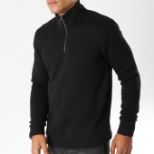/achat-sweats-col-zippe/selected-sweat-col-zippe-rob-noir-153771.html
