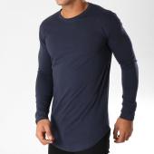 /achat-t-shirts-longs-oversize/frilivin-tee-shirt-manches-longues-oversize-2091-bleu-marine-153851.html