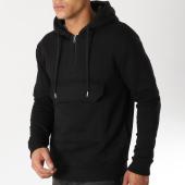 /achat-sweats-capuche/lbo-sweat-capuche-demi-zip-poche-ventrale-434-noir-154004.html