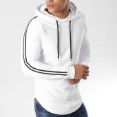 /achat-sweats-capuche/lbo-sweat-capuche-oversize-avec-bandes-noir-et-blanche-499-blanc-154007.html