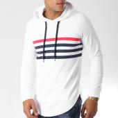 /achat-sweats-capuche/lbo-sweat-capuche-oversize-avec-rayures-504-blanc-154012.html