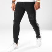 /achat-jeans/classic-series-jean-slim-avec-bandes-1049-noir-blanc-154127.html