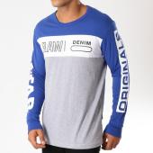 /achat-t-shirts-manches-longues/g-star-tee-shirt-manches-longues-graphic-11-d12579-336-bleu-roi-gris-chine-blanc-154076.html